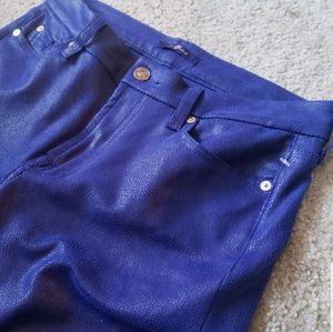 7 for all mankind metallic leggings